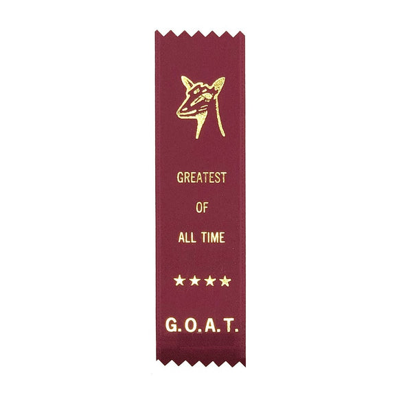 Greatest of All Time G.O.A.T. Adulting Award Ribbon on Gift Card