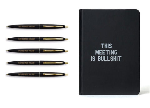Meeting is Bullshit Gift Set Bundle