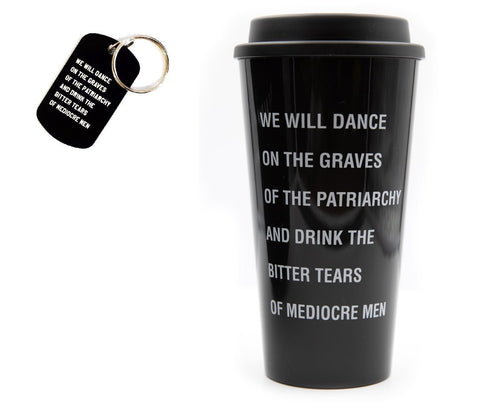 Dance On The Grave Of The Patriarchy Keychain And Coffee Mug Gift Set