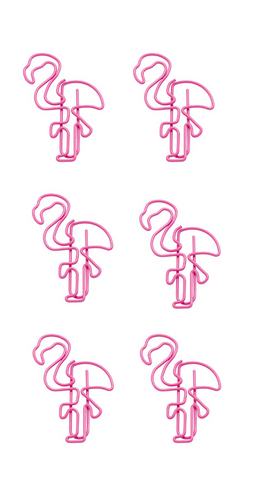 Flamingo Paper Clips in Bright Pink