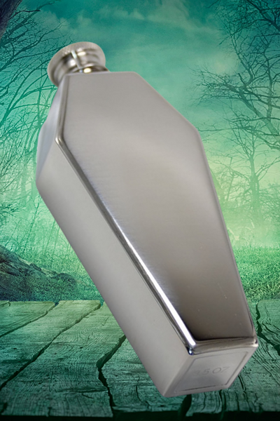 Coffin Flask in Stainless Steel | The Apocalypse Drinking Vessel of Choice