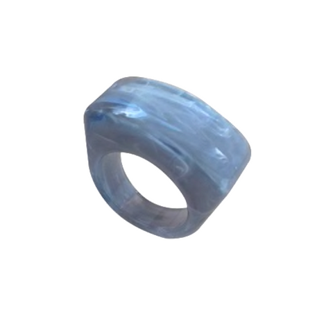 Eye of the Storm Opaque Resin Statement Ring
