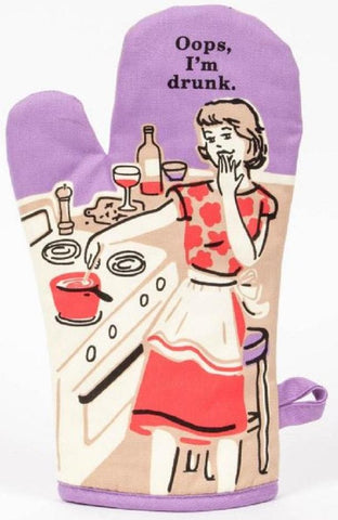 Oops, I'm Drunk Oven Mitt in Purple