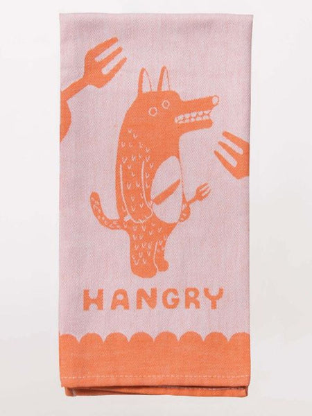 Hangry Woven Funny Snarky Dish Cloth Towel / Novelty Silly Tea Towels / Cute Hilarious Unique Kitchen Hand Towel