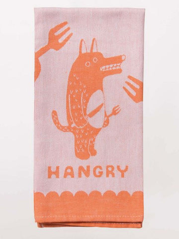 "Hangry Woven Funny Snarky Dish Cloth Towel | Soft Absorbent Jacquard | 100% Cotton Hand or Tea Towel 21"" x 28"""