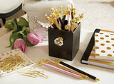 Work It Forest Green Rhinestone Embellished Crown Pen Set of 12 - Novelty Office/Desk Supplies