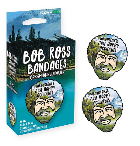 No Mistakes Just Happy Accidents Bob Ross Bandages