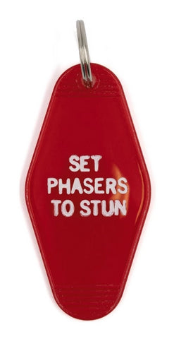 Set Phasers to Stun Red Translucent Motel Style Keychain