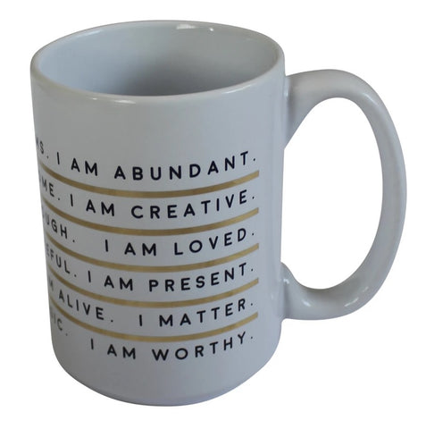 I Am Affirmation Porcelain Mug
