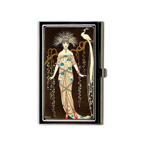 Art Deco Peacock Card Case