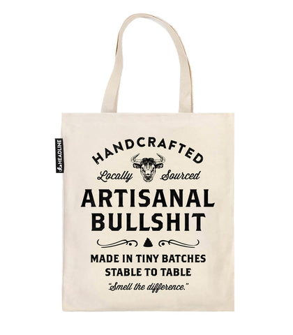 Artisanal Bullshit Tote Bag With Bull Design