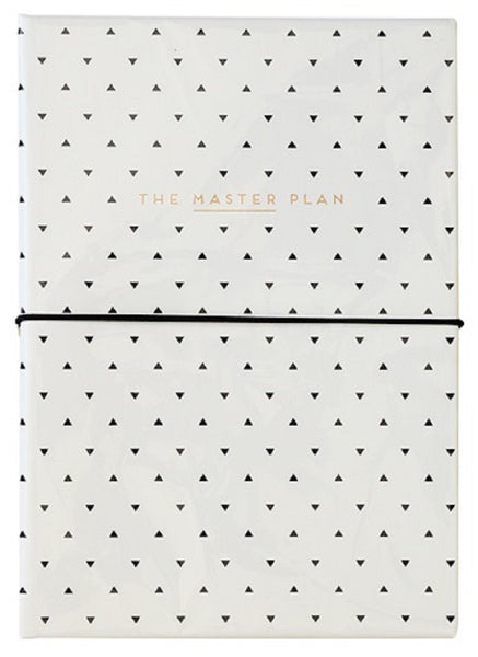 Master Plan Stationery Set with Pen in Black and White | Pads and Pen Inside a Polka Dot Portfolio