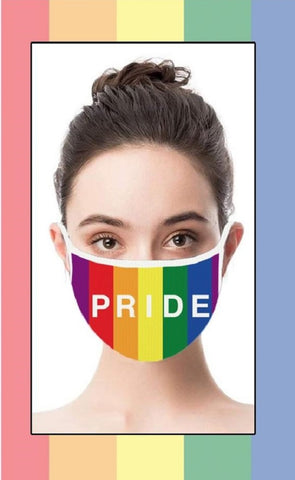 Pride Rainbow Face Cover with Adjustable Nose Bridge and Ear Straps | 2 Layers of Protection | Water Resistant