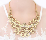 True Baroque Necklace in Gold, Magenta, or Black