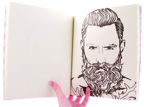 Beard Coloring Book by Meggyn Pomerleau – The Bullish Store