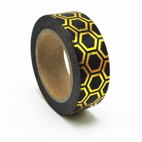 Black and Gold Geo Washi Tape