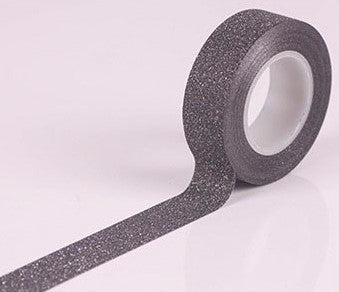 Black Glitter Washi Tape