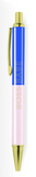 Boss Babe Pen in Blush Pink and Royal Blue