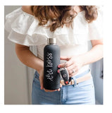 The Boss Stainless Steel Metal Water Bottle in Black