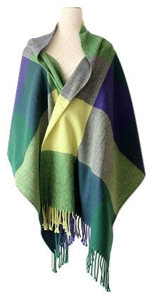 Perfect Geo Office Shawl in Autumn Brights