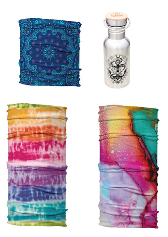 Bestsellers Yoga Headband Set | 3 Soft Stretch Headbands + Free Let Love Be Your Anchor Water Bottle