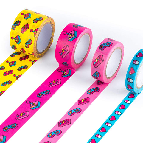 Power Up Decorative Washi Tape in Set of 4