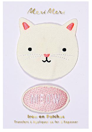 Iron On Cat Patch Pack of 2