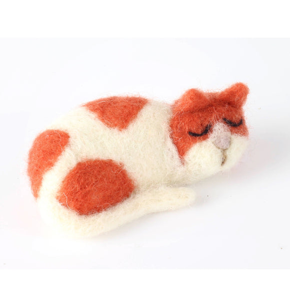 Cat Brooch Felting Modern Craft Kit | Made in the UK