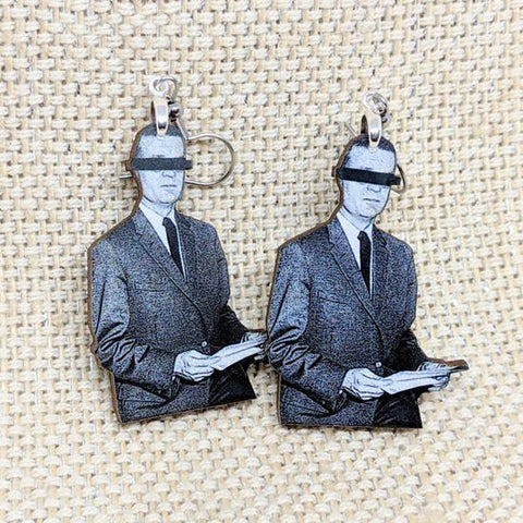 Censor Man Earrings | Handmade and Lightweight