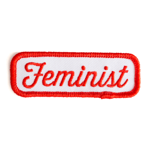 Feminist Patch Iron-On Patch in Red