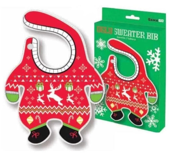 Ugly Christmas Sweater Baby Bib