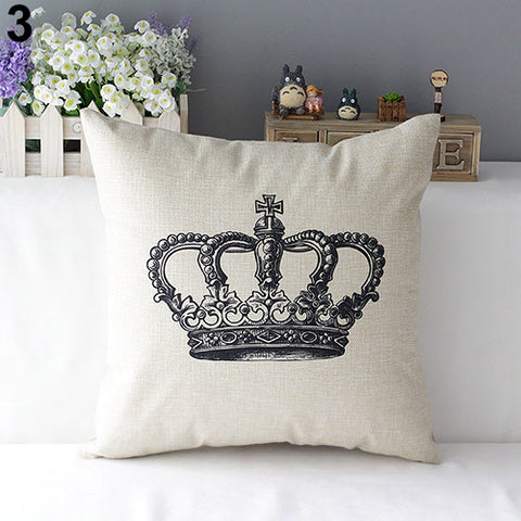 "Euro Crown 17"" Accent Pillow Cover in Natural"