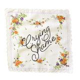 Crying Shame Retro Floral Print Cotton Handkerchief