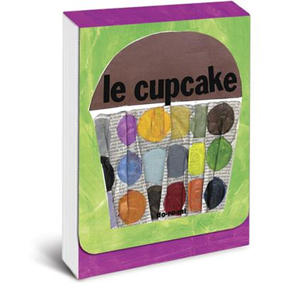 Le Cupcake Pocket Note in Green and Purple