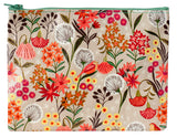 Dandelion Zipper Pouch in Colorful Floral