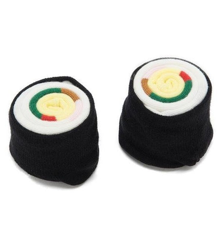 Futomaki Sushi Knee Length Socks | Cute Socks Rolled as Sushi Rolls for Gifting