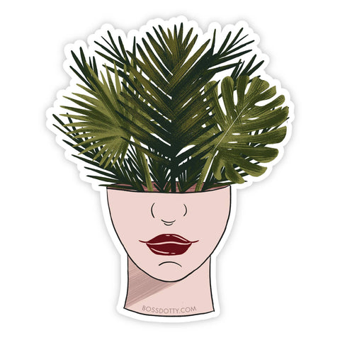 Plant Head Vinyl Sticker