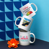 Lisa Congdon It's A New Day Ceramic Coffee Mug
