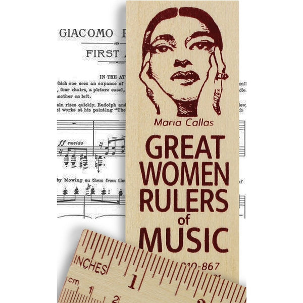 Maria Callas Great Women Rulers of Music Wooden Ruler
