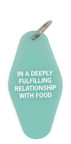 In A Deeply Fulfilling Relationship With Food Translucent Motel Style Keychain