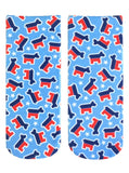 Democratic Party Ankle Socks in Donkey Print