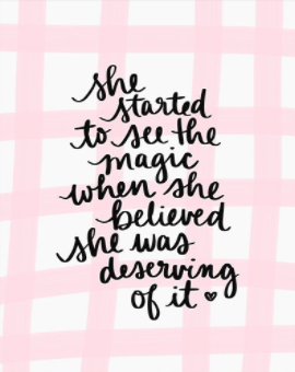 She Started to See the Magic When She Believed She was Deserving of It Wall Art Print by Dayna Lee