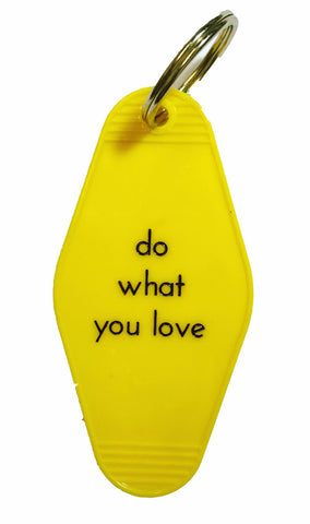 Do What You Love Keychain in Sunny Yellow