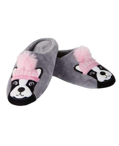 Dog Dame Slippers in Grey | Soft Spa Fuzzy Slippers | Fluffy House Shoes | Indoor Fur Lady Slippers