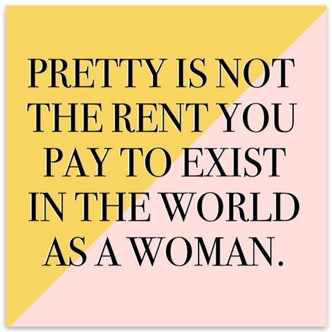 Pretty Is Not The Rent You Pay Colorblock Vinyl Sticker