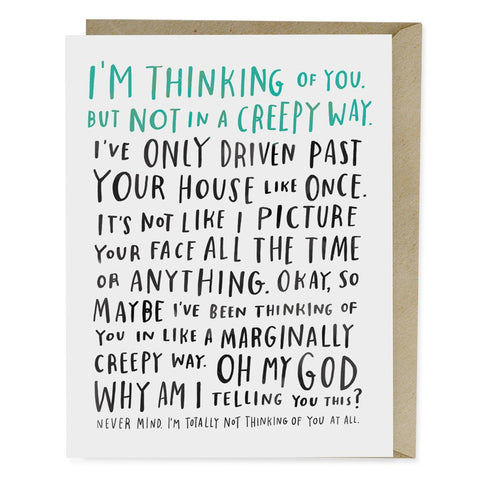Awkward Thinking of You Card