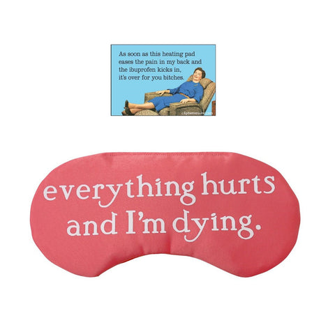 Everything Hurts Gift Pack | Magnet and Sleep Mask
