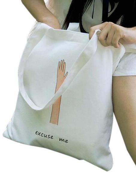 A+ Student Excuse Me Canvas Tote Bag