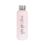 You Got This Stainless Steel Metal Water Bottle in Light Pink