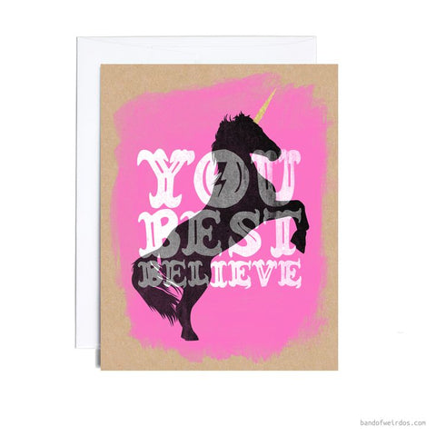 You best believe unicorn greeting card the bullish store you best believe unicorn greeting card m4hsunfo
